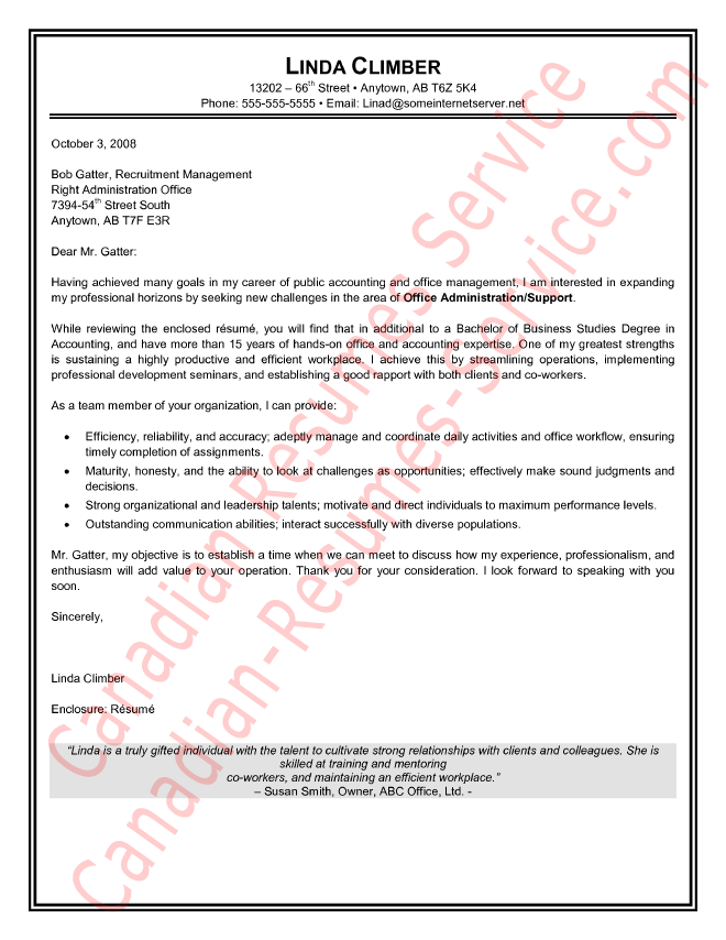 Administrative Assistant Cover Letter Sample/Example