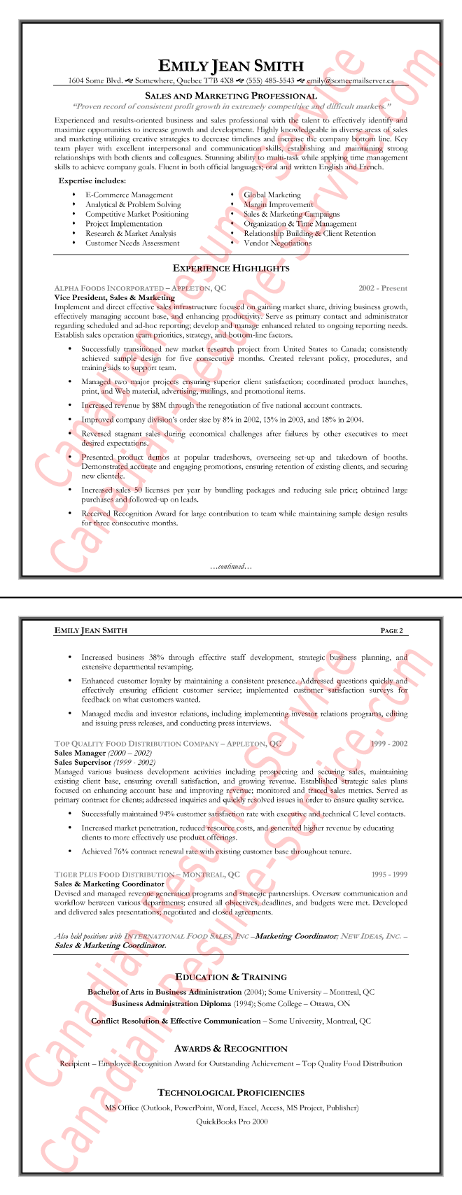 Sales Executive Resume Sample Loaded With Accomplishments  Sales Marketing Resume