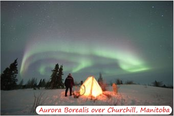 Aurora Borealis Above Churchill, Manatoba