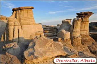 The Badlands in Drumheller Alberts