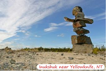 Inukshuk by Yellowknife NWT