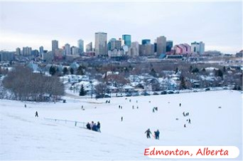 Local Tobaggan Hill in Edmonton,Alberta