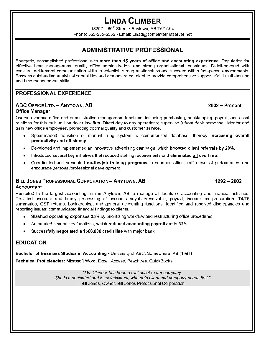 resume for an administrative assistant administrative assistant resume sample resume for an administrative assistant 3346