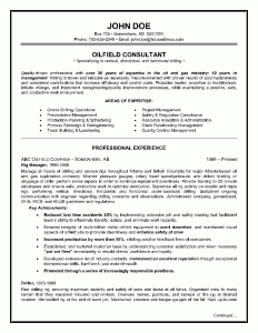 Oilfield Consultant Resume Example - Page 1