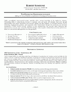 purchasing manager resume example page1