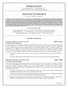 Teacheru0027s Assistant Resume Example   Page 1
