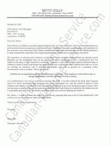 Application letter for special education teacher | Eve-Magazine
