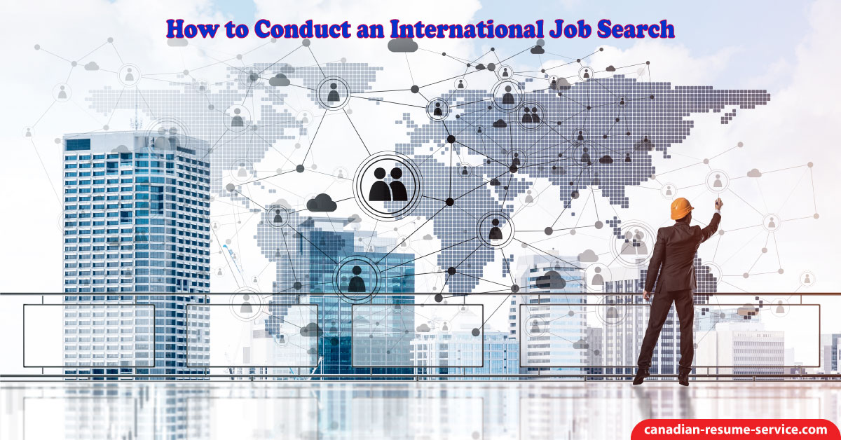 how to conduct an international job search