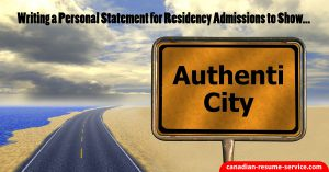 Writing a Personal Statement for Residency Admissions to Show Authenticity