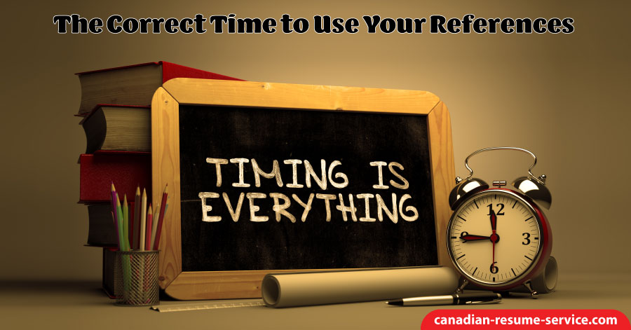 The Correct Time to Use Your References