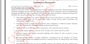 Sales Manager Resume Accomplishments