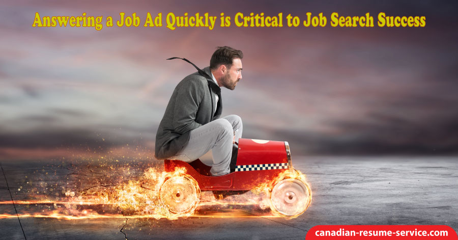 Answering a Job Ad Quickly is Critical to Job Search Success
