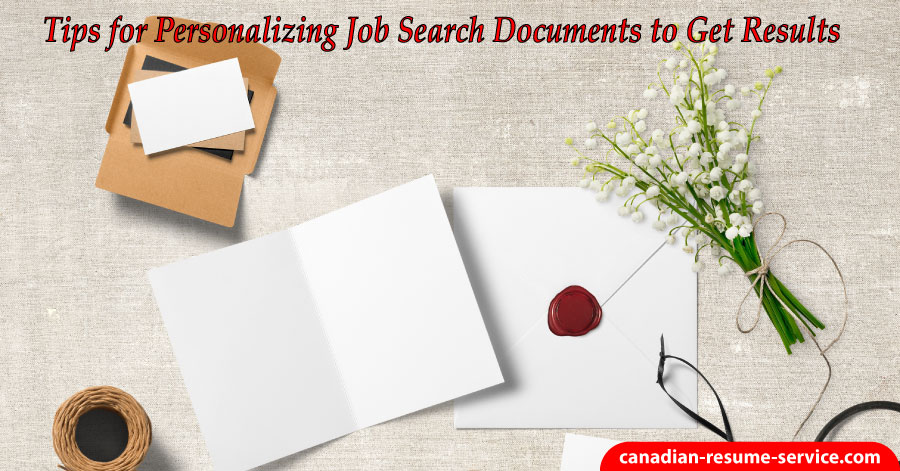 personalizing job search documents to get results