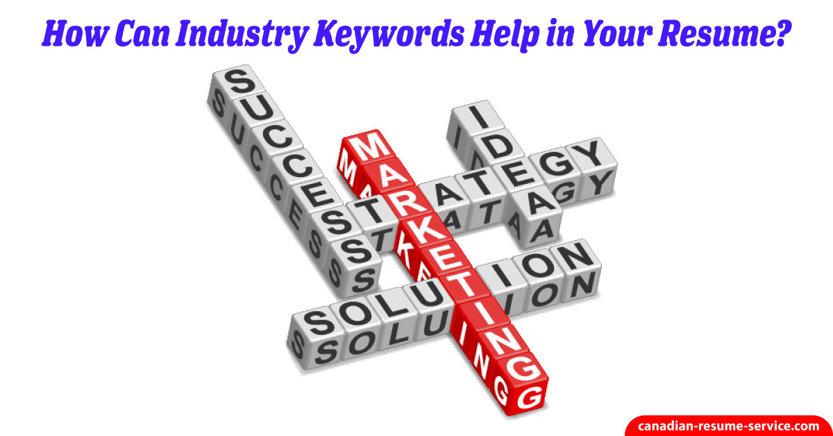 how can industry keywords help in your resume