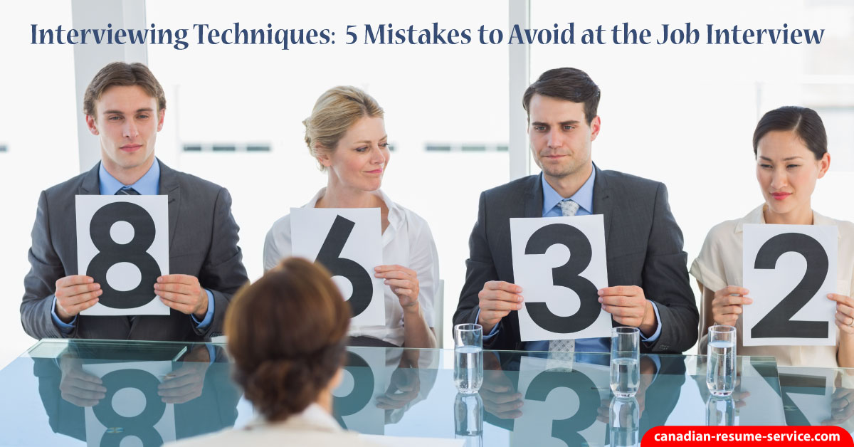interviewing techniques  5 mistakes to avoid at the interview