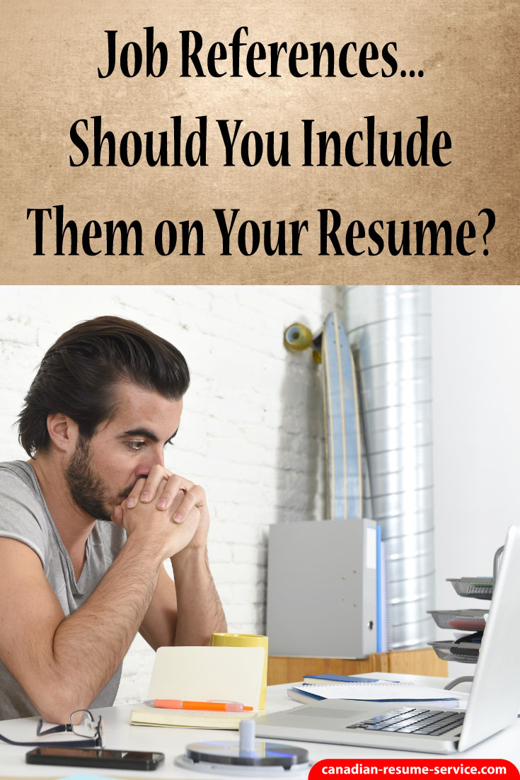 job references go on a separate sheet from the resume