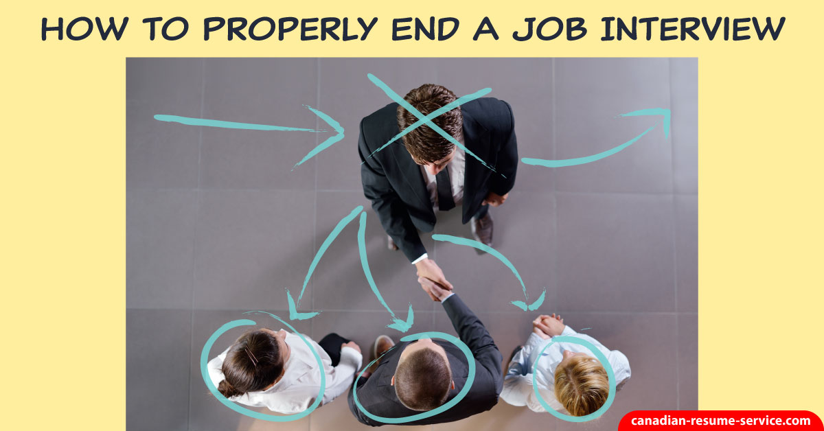 how to properly end a job interview