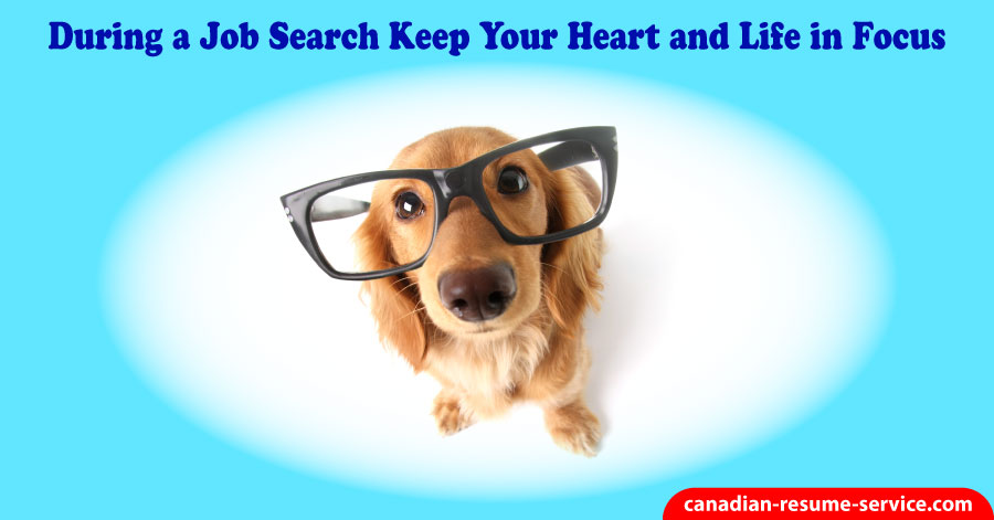During a Job Search Keep Your Heart and Life in Focus