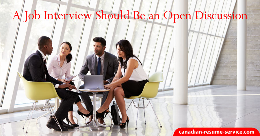 job interviews should be an open discussion