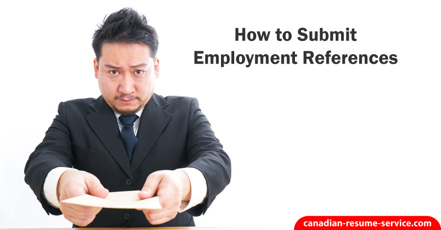 How to Submit Employment References