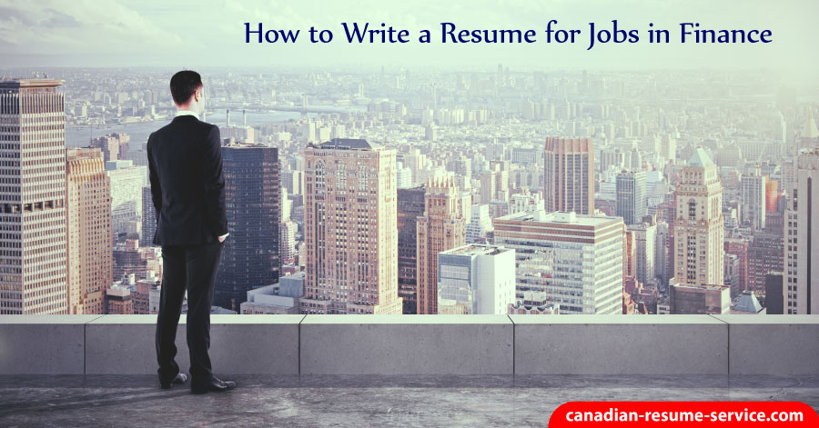how to write a resume for finance jobs