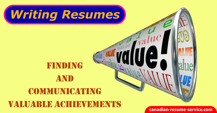 finding valuable achievements for writing resume