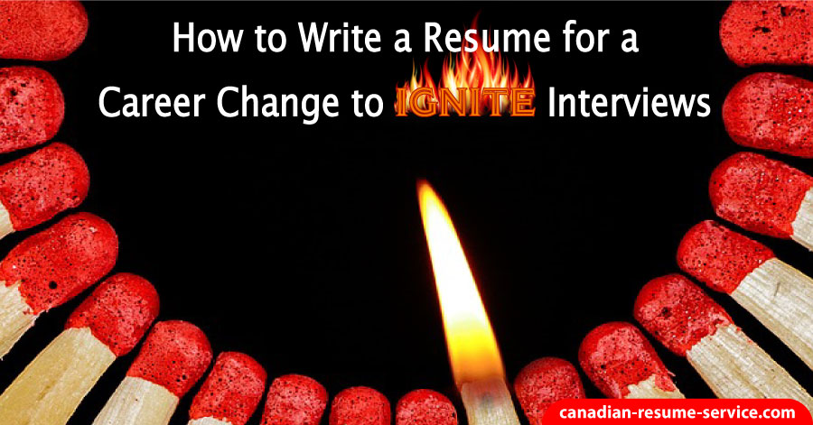 how to write a resume for career change