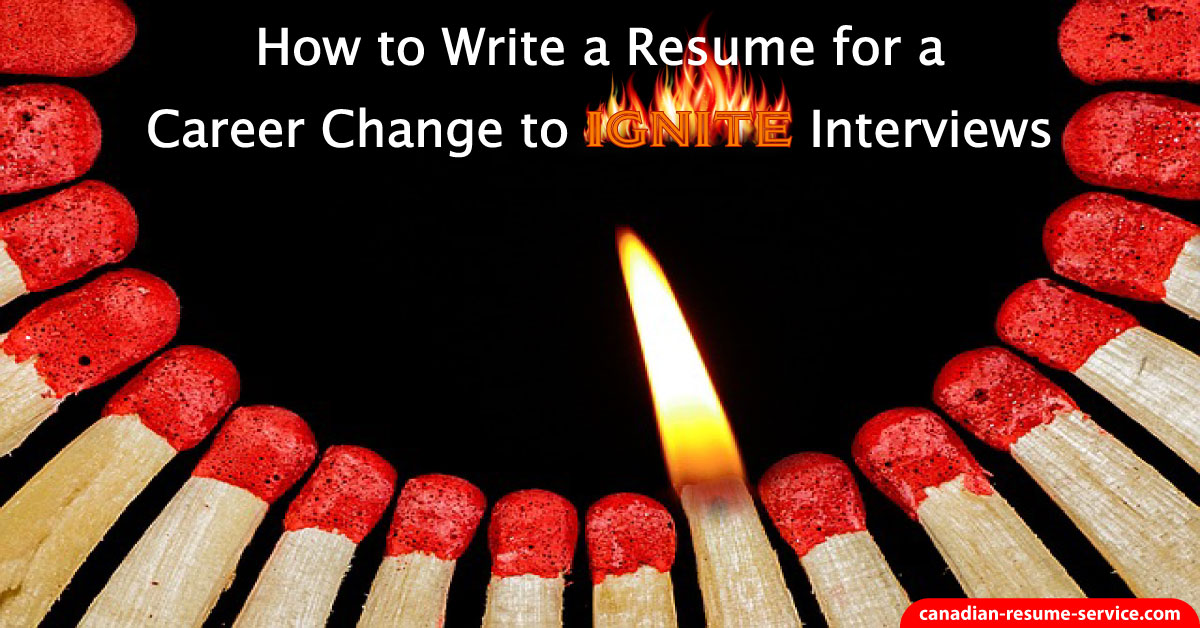How do i write a resume when changing careers