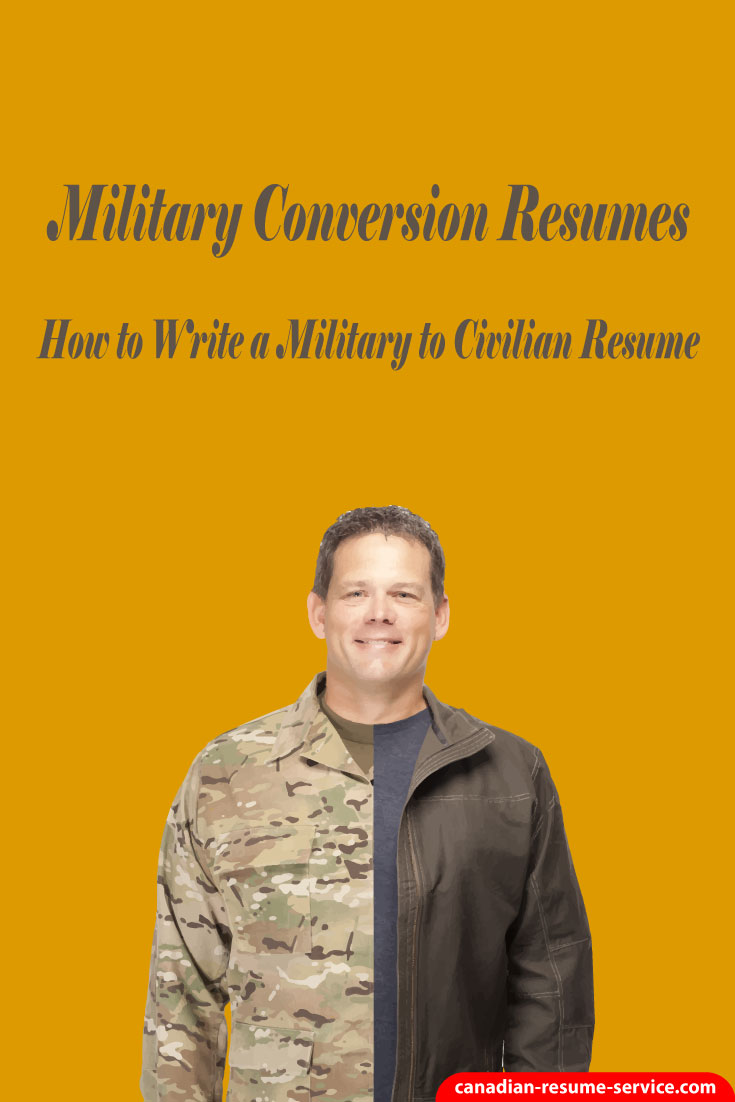 military conversion resumes