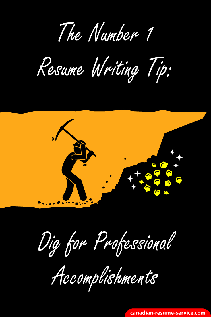 the number 1 resume writing tip  dig for professional