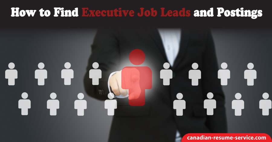 How to Find Executive Job Leads and Postings
