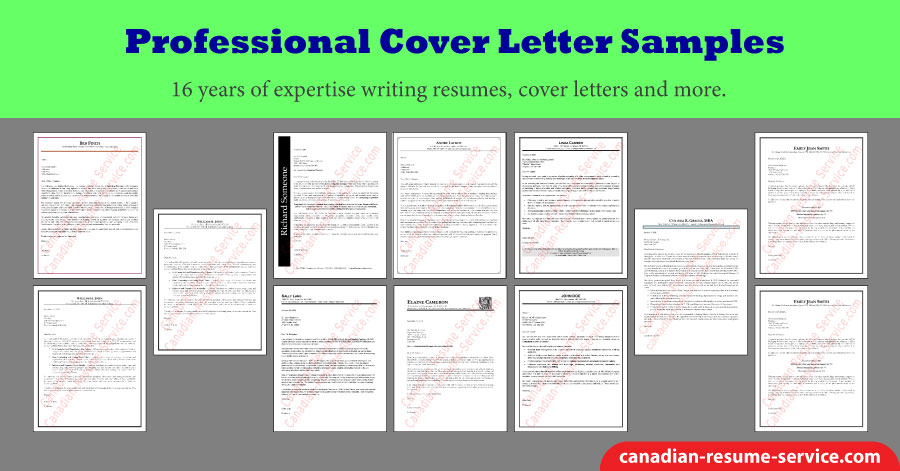 Professional Cover Letter Samples from canadian-resume-service.com
