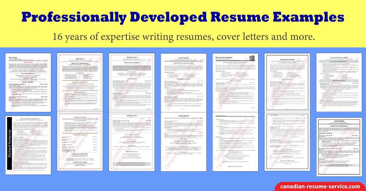 Professional Resume Examples | Entry to Executive Resume Samples